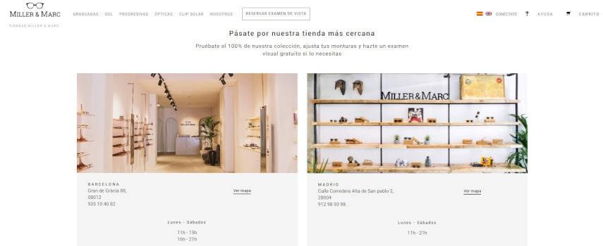 Miller & Marc tiendas